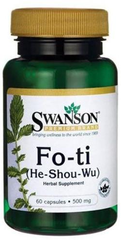 Swanson Fo-Ti He-Shou-Wu 500 60 capsules
