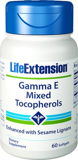 Life Extension Gamma E Mixed Tocopherol 60 capsules