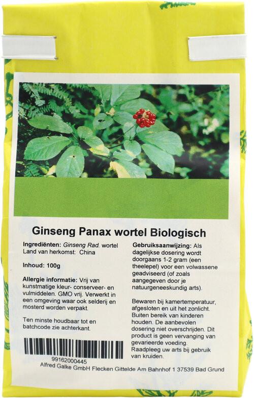Shakthee Koreaanse Ginseng (Panax) Bio 100 gram biologisch