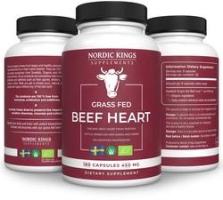 Nordic Kings Supplements Organic Beef Heart 180 capsules biologisch