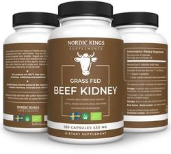 Nordic Kings Supplements Organic Beef Kidney 180 capsules biologisch