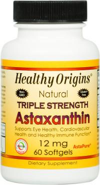 Healthy Origins Astaxanthine 12 mg