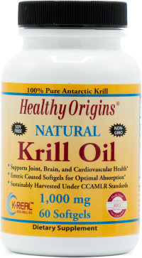 Healthy Origins Krill Oil 1000 mg (K-Real)