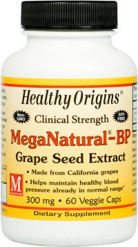 Healthy Origins MegaNatural-BP Grape Seed Extract 300 mg