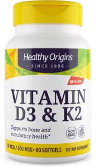 Healthy Origins Vitamine D3 & K2