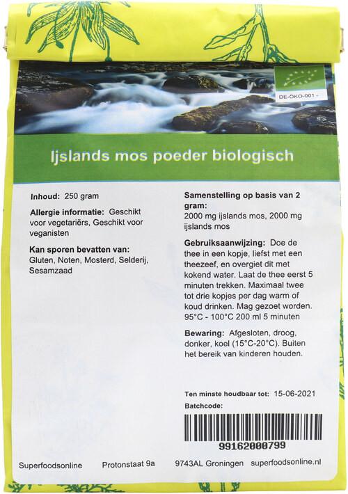 Shakthee Ijslands mos theepoeder biologisch biologisch