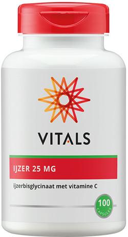 Vitals IJzerbisglycinaat 25 mg 100 vegetarische capsules