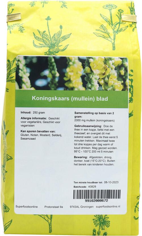 Shakthee Koningskaars (mullein) blad 250 gram