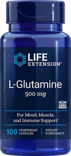 Life Extension L-Glutamine capsules 100 capsules