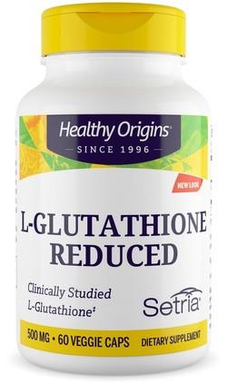 Healthy Origins L-Glutathion Reduced 500 mg