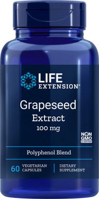 Life Extension Grapeseed Extract met Resveratrol 60 vegetarische softgel capsules