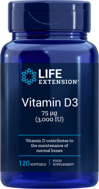 Life Extension Vitamine D3 3000 IE 120 softgels