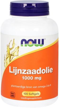 NOW Foods Lijnzaadolie 1000 mg 100 capsules