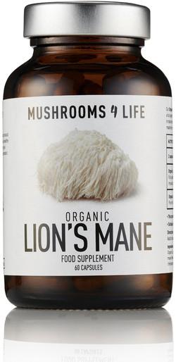 Mushrooms4Life Lion's Mane Caps 60 capsules biologisch