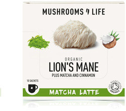 Mushrooms4Life Lion's mane matcha latte biologisch