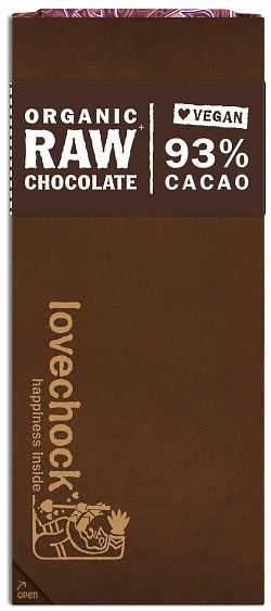 Lovechock Lovechock tablet 93% cacao 70 gram biologisch