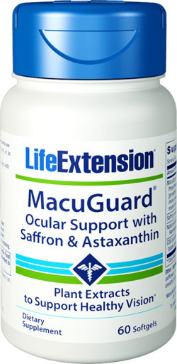 Life Extension MacuGuard® Ocular Support with Astaxanthin 60 softgel capsules
