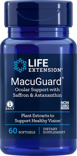 Life Extension MacuGuard® Ocular Support with Astaxanthin 60 softgels