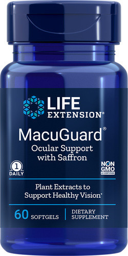 Life Extension MacuGuard® Ocular Support with saffron 60 softgels