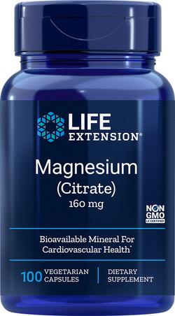 Life Extension Magnesium Citraat 100 vegetarische capsules