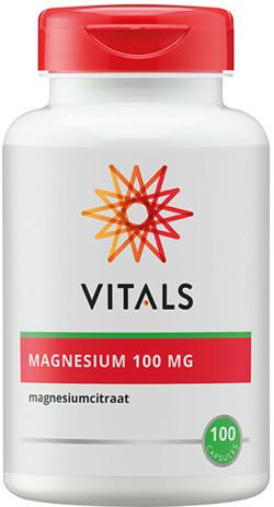 Vitals Magnesiumcitraat 100 mg 100 vegetarische capsules