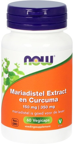NOW Foods Silymarine Extract 150 mg en Curcuma 350 mg 60 capsules