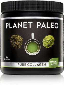 Planet Paleo Matcha latte Collageen 225 gram
