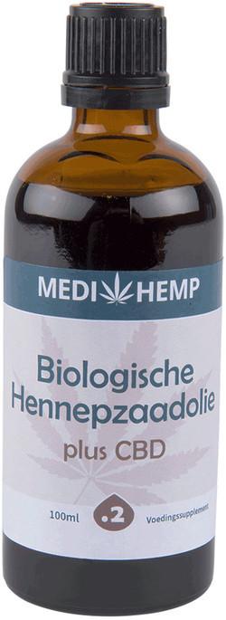 Medihemp Hennepolie plus CBD bio 100ml 100 milliliter biologisch