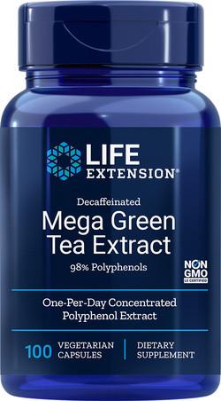 Life Extension Mega Green Tea Extract Decaffeinated 100 capsules