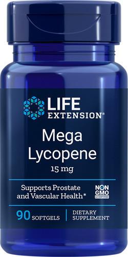 Life Extension Mega Lycopene 15mg 90 softgel capsules
