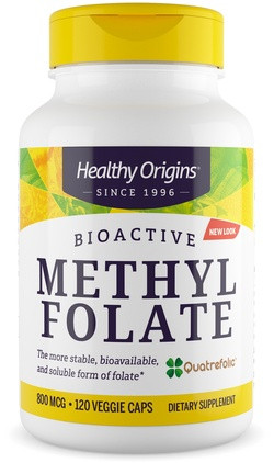 Healthy Origins MethylFolaat (Quatrefolic®) 120 capsules