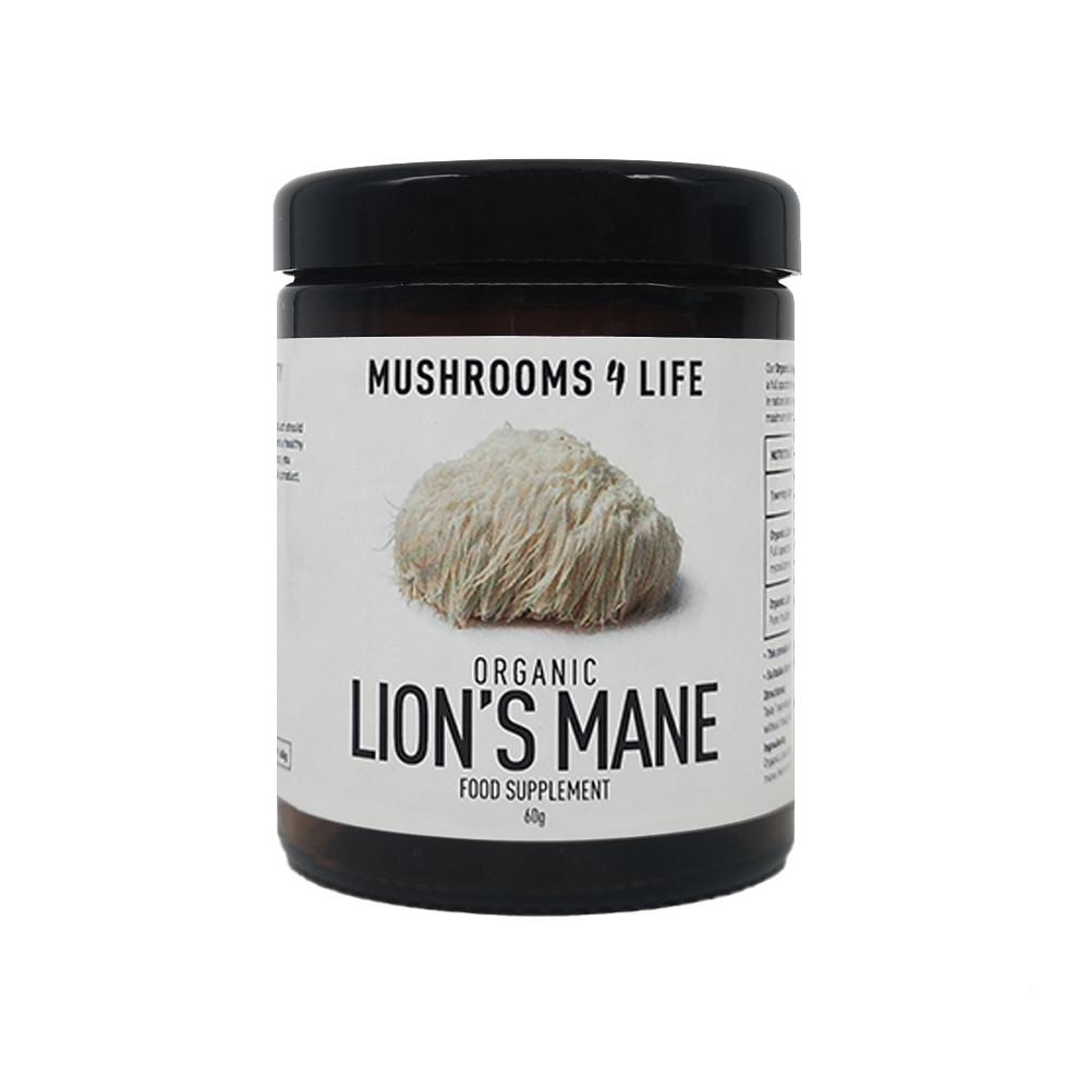 Mushrooms4Life Lion's Mane Poeder 60 gram biologisch