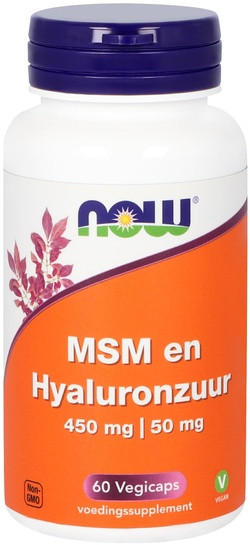 NOW Foods MSM en Hyaluronzuur 450 mg | 50 mg 60 capsules