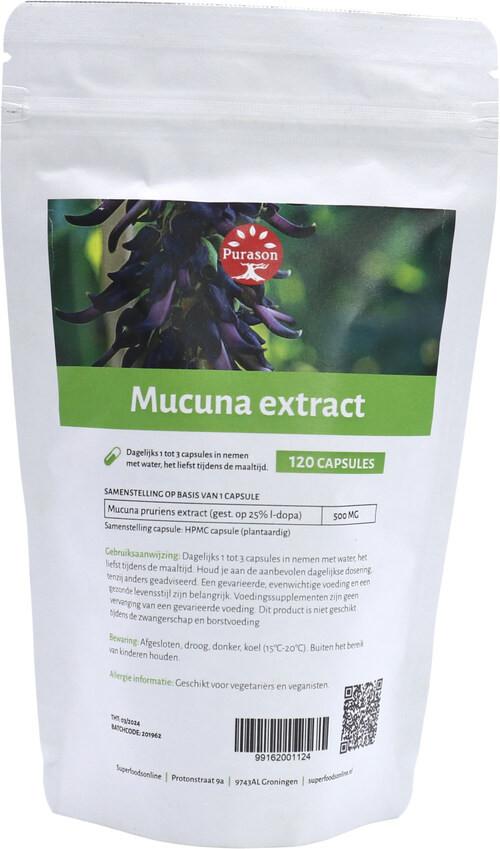 Purason Mucuna Extract 120 capsules
