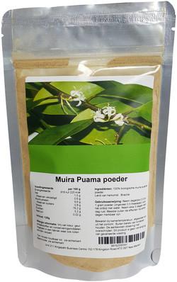 Muira puama poeder 125 gram