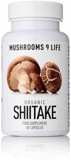 Mushrooms4Life Shiitake Caps 60 capsules biologisch