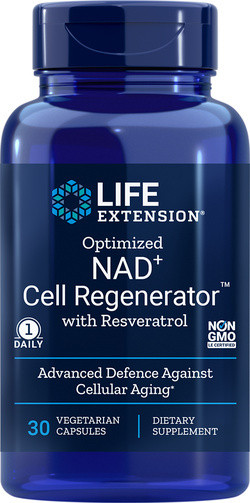 Life Extension NAD+ 300 met Resveratrol 30 vegetarische capsules