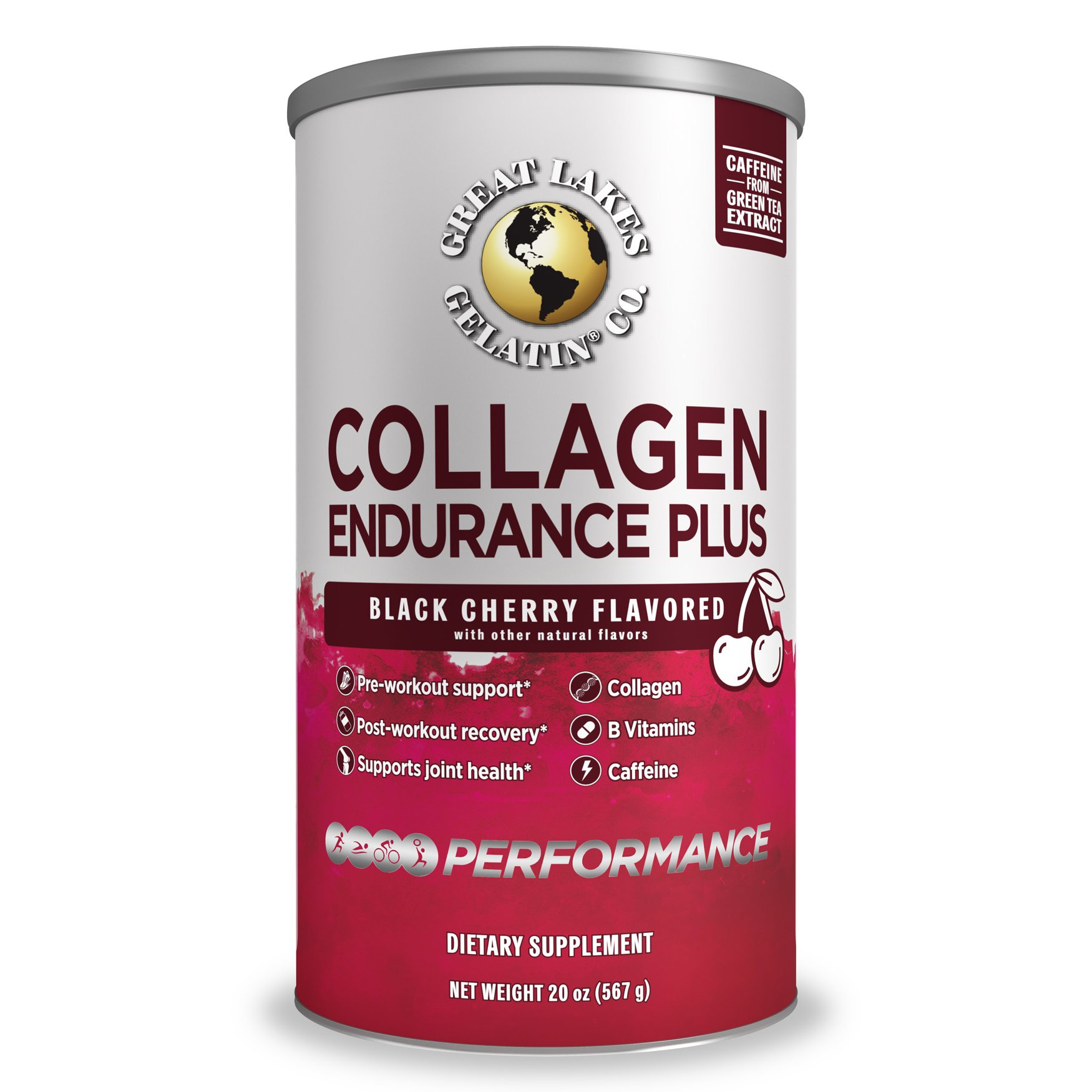 Great Lakes Collageen Endurance Plus 454 gram poeder