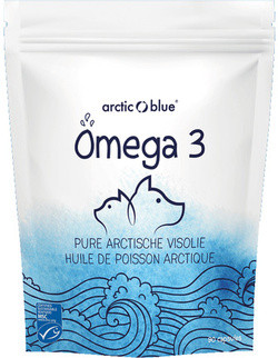 Arctic Blue Omega-3 Pure Arctische Visolie capsules voor katten en honden
