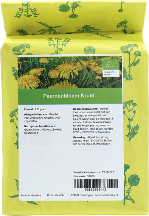 Shakthee Paardenbloem Kruid 250 gram biologisch