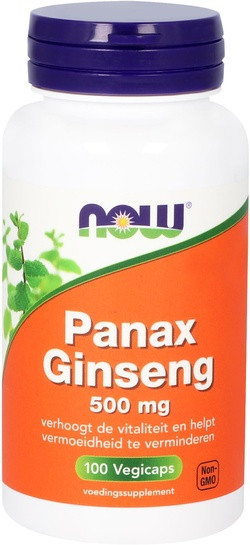 NOW Foods Panax Ginseng 500 mg 100 capsules