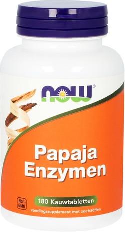 NOW Foods Papaja Enzymen 180 kauwtabletten
