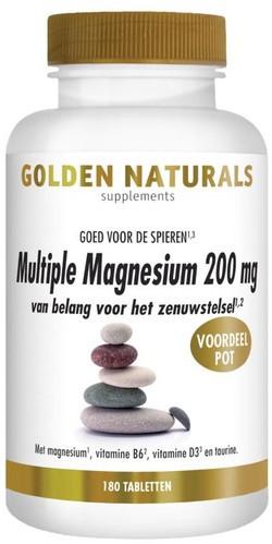 Golden Naturals Multiple Magnesium 200 mg