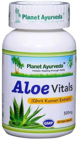 Planet Ayurveda Aloe Vitals (Ghrit Kumari extract) 60 capsules