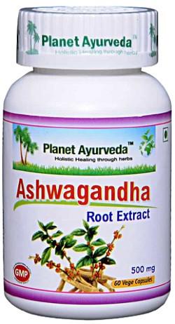 Planet Ayurveda Ashwagandha Root Extract 60 capsules