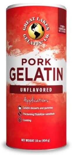 Great Lakes Gelatine Poeder Porcine 454 gram poeder