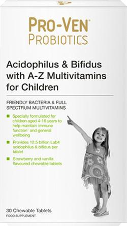 Pro-Ven Probiotics Probiotics Multivitamine voor Kinderen 30 kauwtabletten