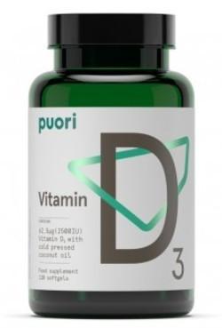 Puori Vitamine D3 2500 62.5 mcg 120 softgels