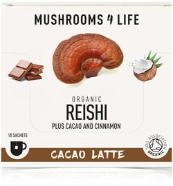 Mushrooms4Life Reishi cacao latte biologisch