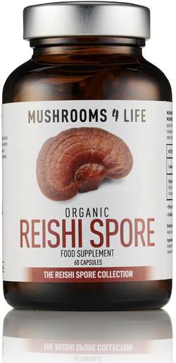 Mushrooms4Life Reishi Sporen Caps 60 capsules biologisch